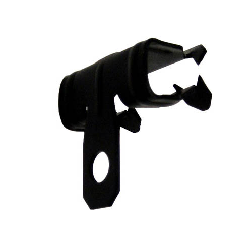 Knock on spring steel beam clamp for flanges